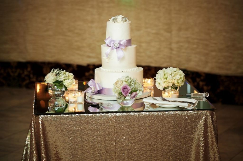 Mirror Top Cake Table Decor rental in chicago
