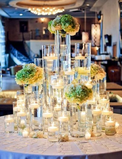 cylinder candle holders rentals in chicago