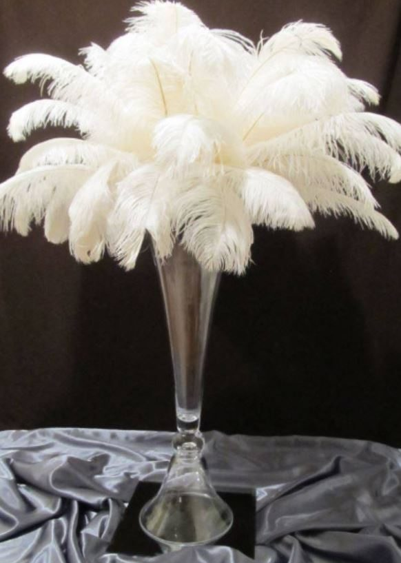 Feather Centerpieces Ags Event Creations
