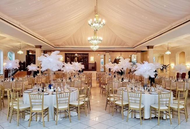 feather centerpieces rentals in chicago