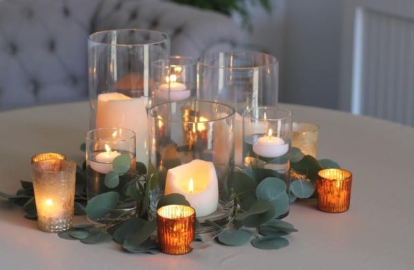 candle holder centerpiece rentals in chicago