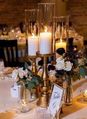 candle holder centerpieces chicago